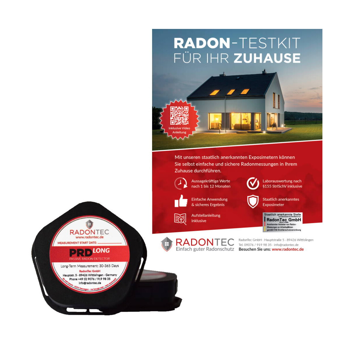 Radonmessung für Ihr Zuhause - Jetzt selber Radon messen.