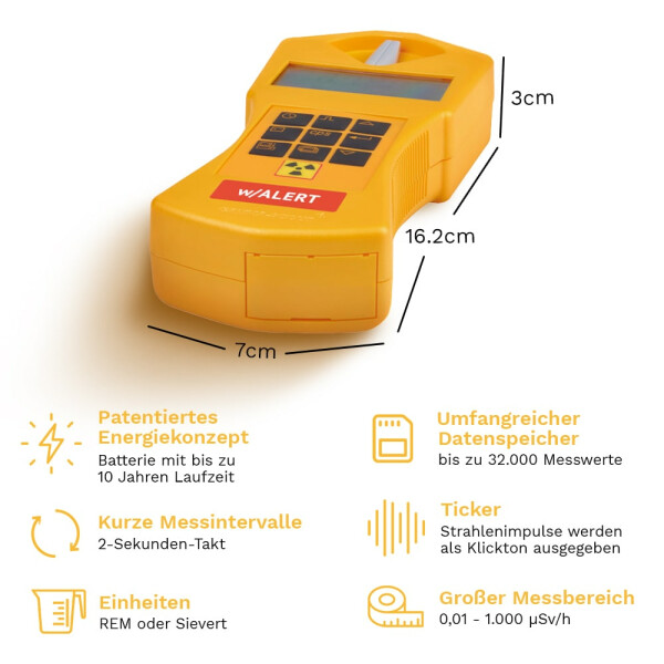 Gamma-Scout ALERT Geiger Counter Radiation Detector