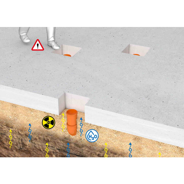 Hauff Technik Tundish radon gas proofed