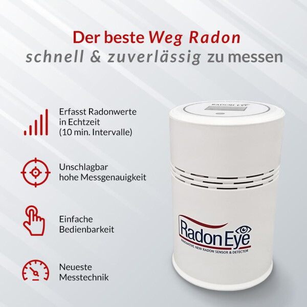 SmartPhone Enabled Radon Eye RD200 Smart Radon Monitor Detector for Home Owners Testing